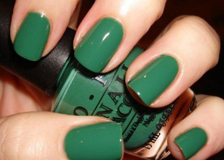 Как сделать зелёный лак для ногтей 336