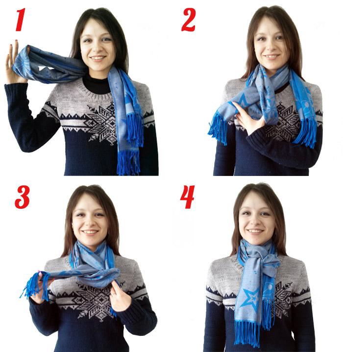 Как модно завязывать шарф.
