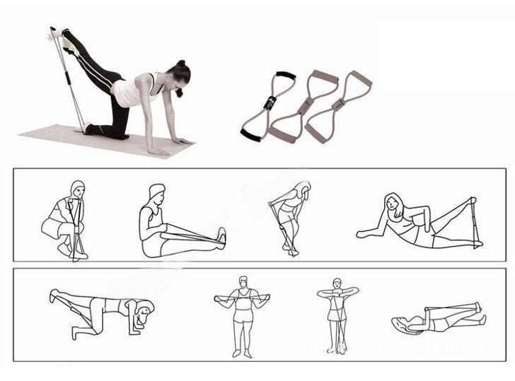 Упражнение с эспандером восьмерка для женщин в домашних условиях 522