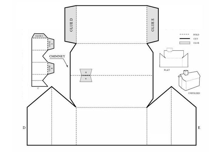 Детские домики из картона со схемами