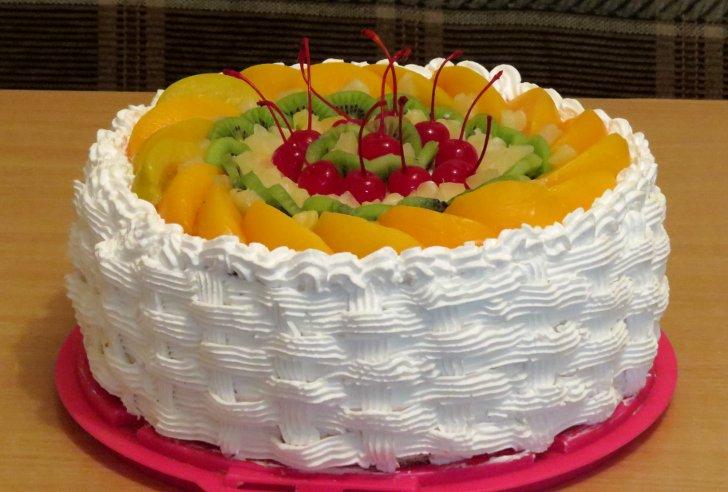 Торт со сливками своими руками
