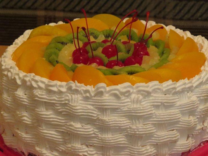 Как украсить торт в домашних условиях взбитыми сливками 265