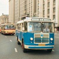 Парад автобусов в Москве